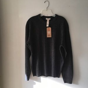 NWT Dockers Heather Dark Gray Sweater.